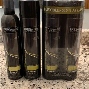 TRESemme extra firm control hairspray and mousse